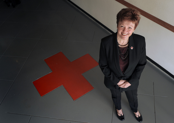 Red Cross of Northeastern California CEO, Martha Griese. Photo by Appeal Democrat