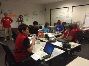 Red Cross Disaster Operations Center in Sacramento