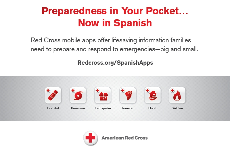 Red Cross Reminds Consumers About Free Spanish Apps  to Help Keep Families Safe
