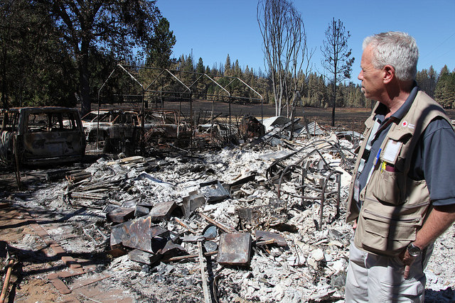 Rich visits one of the home sites ravaged by the Butte Fire